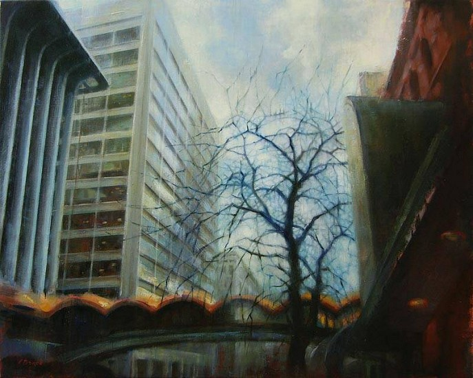 Victoria Brace, Main and Howard 2009, oil on canvas