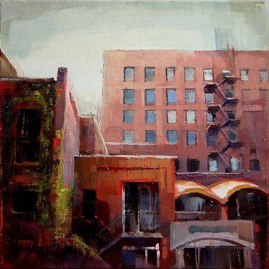 Victoria Brace, Courtyard 2011, oil on canvas