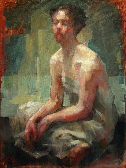 Victoria Brace, Resting Model 2012, oil on canvas