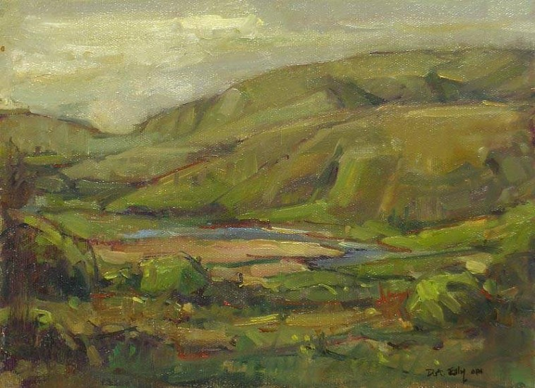 Don Ealy, Mesa Above the River oil on canvas