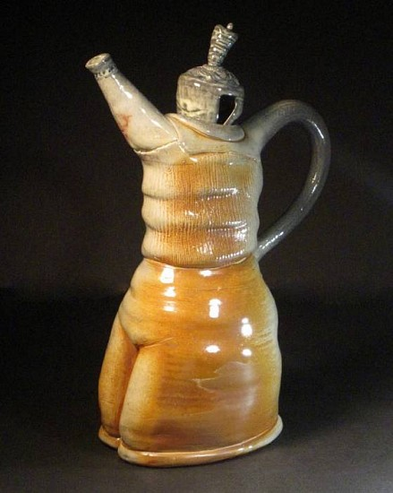 Gina Freuen, Stiff Legged Coffee Pot Vessel 2010, stoneware/porcelain