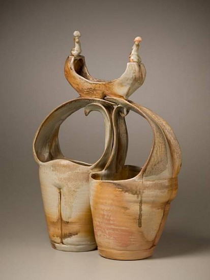 Gina Freuen, Comfort Forms with Memory Ship 2010, wood fired porcelain