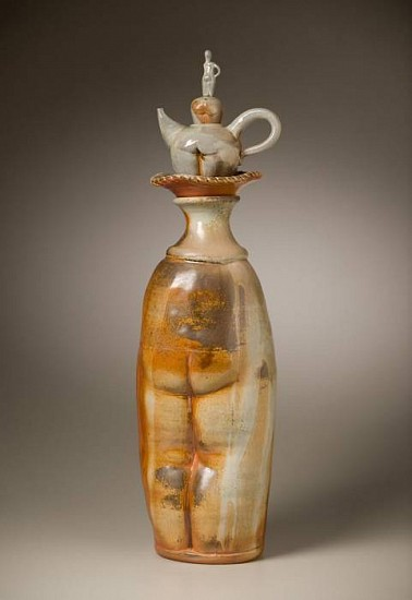 Gina Freuen, Totem Figures with Companions 2010, porcelain blend, wood fired
