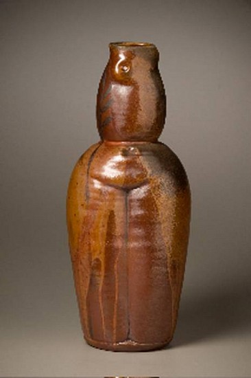 Gina Freuen, Red Earth Ghost Figure 2010, red stoneware, wood fired
