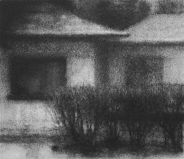Elaine Green, House #18 2006, charcoal