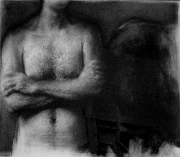 Elaine Green, Tauran 2008, charcoal on paper