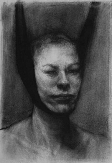 Elaine Green, Head Sling 2010, charcoal on paper