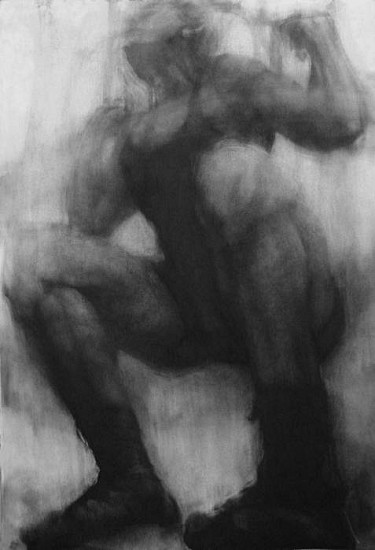Elaine Green, Lifter #1 2010, charcoal on paper