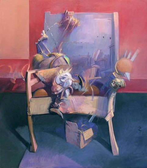Robert Grimes, Chair I 1982, oil on canvas