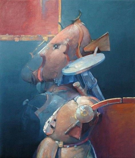 Robert Grimes, Mercenary 1990, oil on canvas