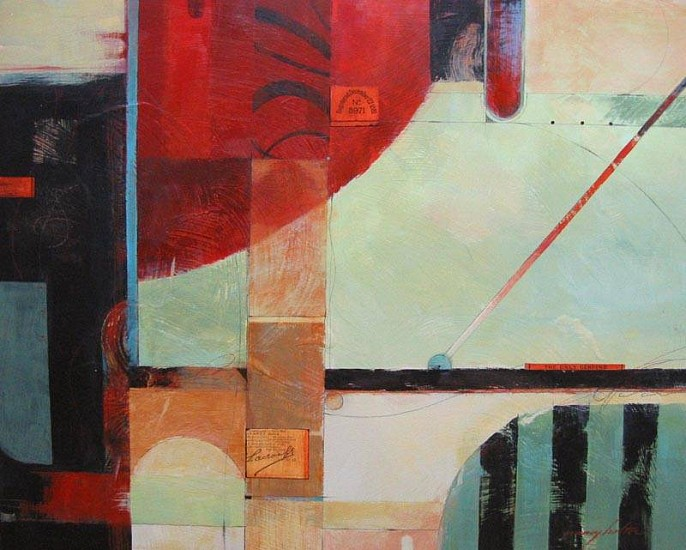 Nancy Halter, Colored Space 2012, acrylic collage
