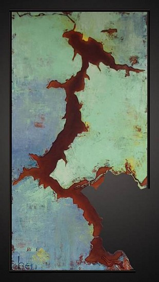 Ben Joyce, Spring -Lake Coeur d'Alene 2011, mixed media on wood
