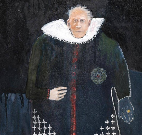 Mel McCuddin, A Day in Court 2007, oil on canvas