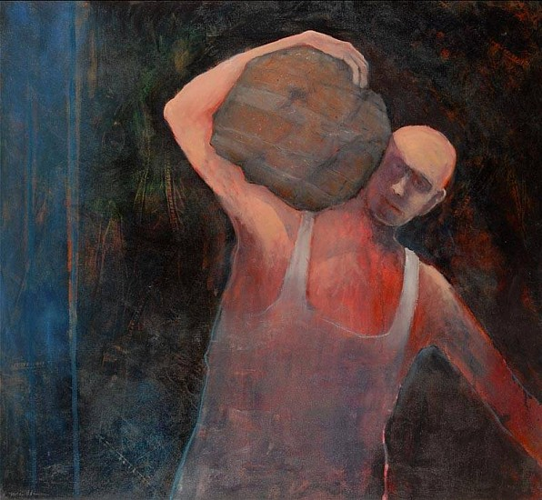 Mel McCuddin, Strong Man 2010, oil on canvas