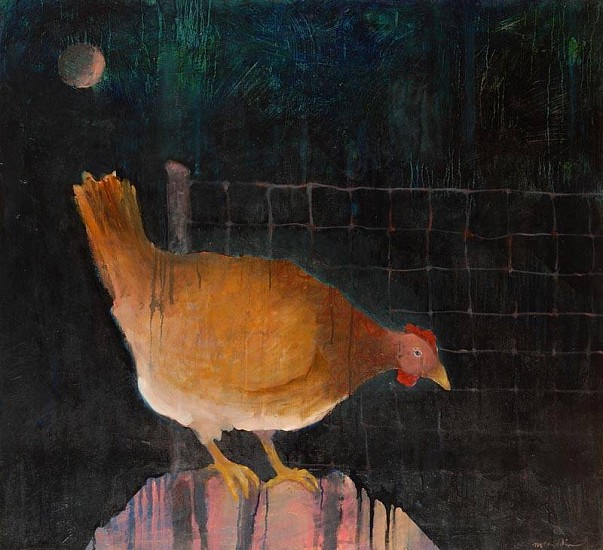 Mel McCuddin, Young Hen, Out Late 2010, oil on canvas