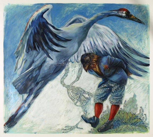 Kay O'Rourke, Bird Without Wings 2010, oil paint on paper