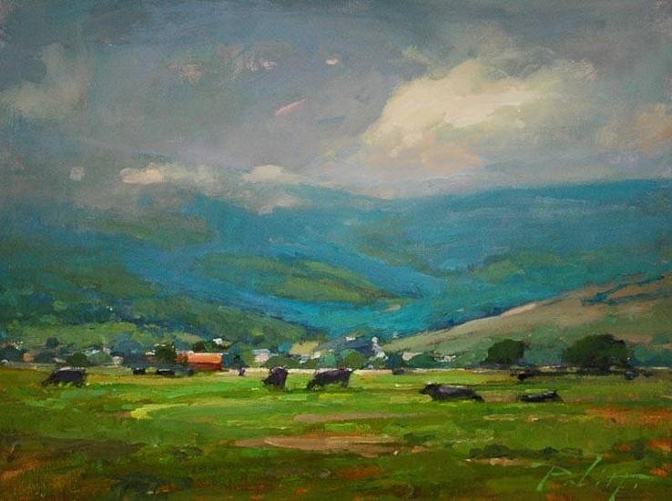 Kyle Paliotto, Montana Picnic 2013, oil on linen