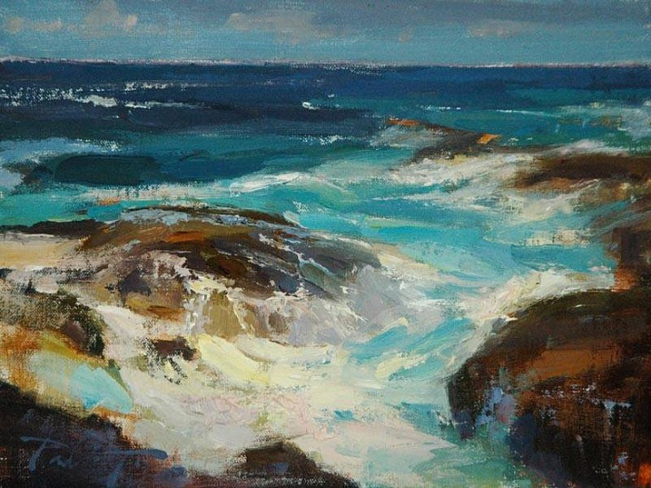 Kyle Paliotto, Hawaiian Coast 2013, oil on linen