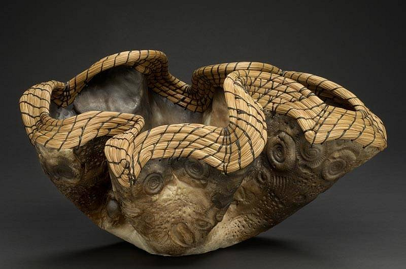 Valerie Seaberg, Ancient Wave 2005, clay and pine needles