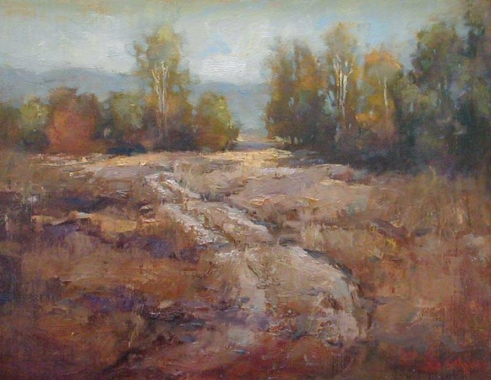 Don Ealy, Old Road oil on panel