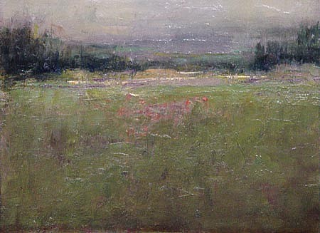 Don Ealy, Field with Tree on Horizon oil
