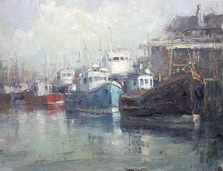 Don Ealy, Work Boats II oil