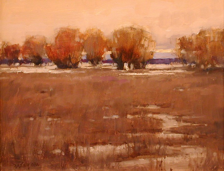 Don Ealy, Winter Willows in Blanchard 2005, oil on canvas