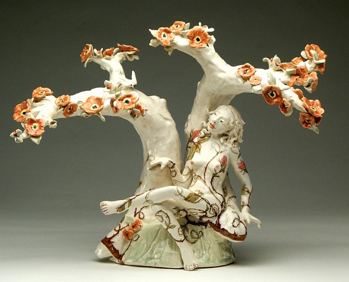 Chris Antemann, Vine 2005, porcelain, decals