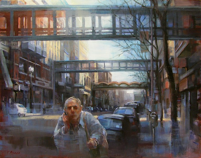 Victoria Brace, Morning on Main Avenue 2012, oil on canvas