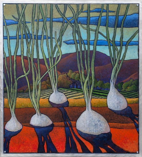 Jerri Lisk, Know Your Onions 2015, acrylic on aluminum