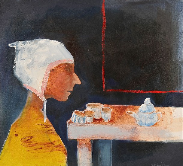 Mel McCuddin, Poor Girl's Tea Party 2015, oil