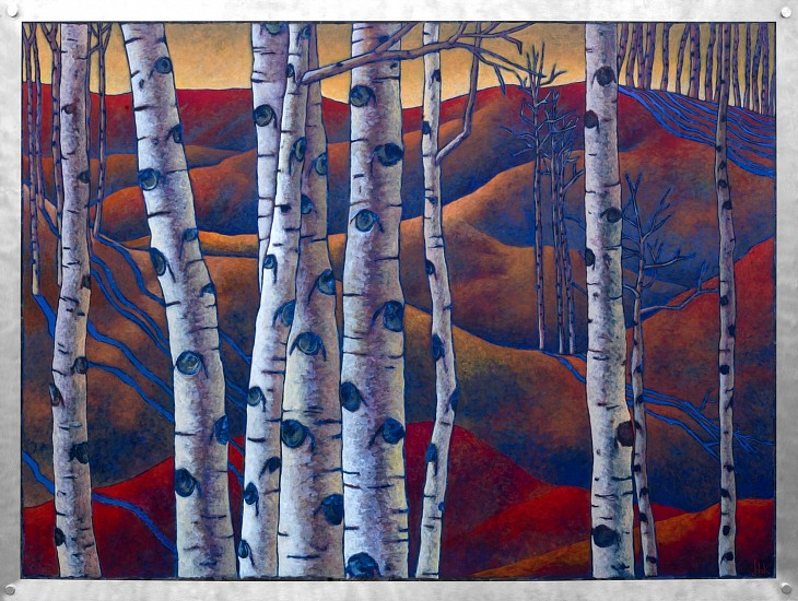 Jerri Lisk, Old Red Hills 2013, acrylic on aluminum