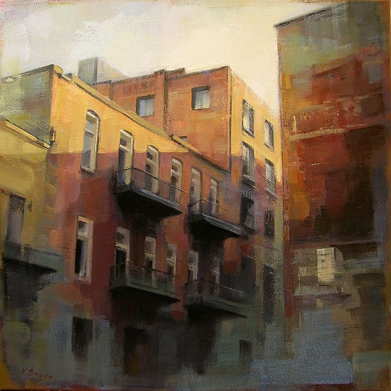 Victoria Brace, Raidroad Alley 2014, oil on canvas