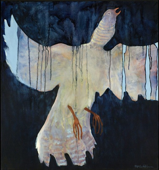 Mel McCuddin, Rising Bird 1994, oil