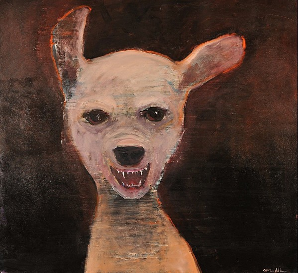 Mel McCuddin, Small Dog with Attitutde 2015, oil