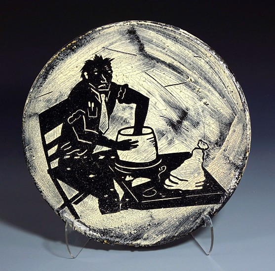 Patrick Siler, Throwing on the Electric Potters Wheel 1989, ceramic