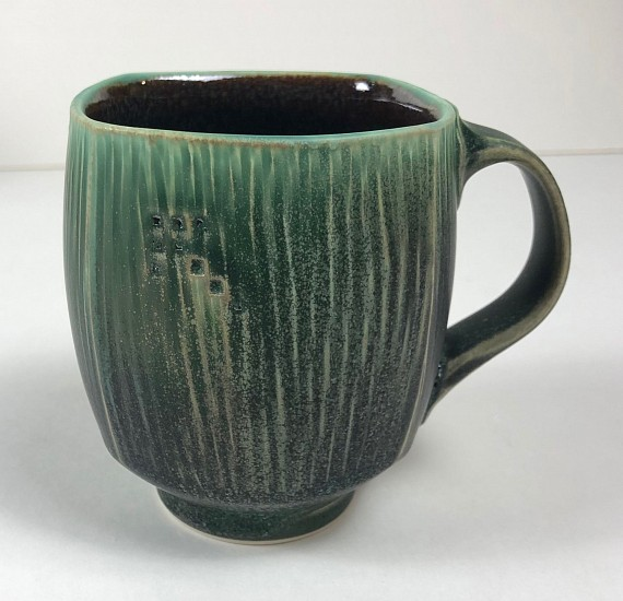 Nick DeVries, Dark Green Square Mug 2018, ceramic