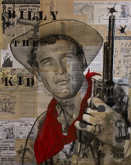 Tanden Launder, Six Shooter 2017, mixed media